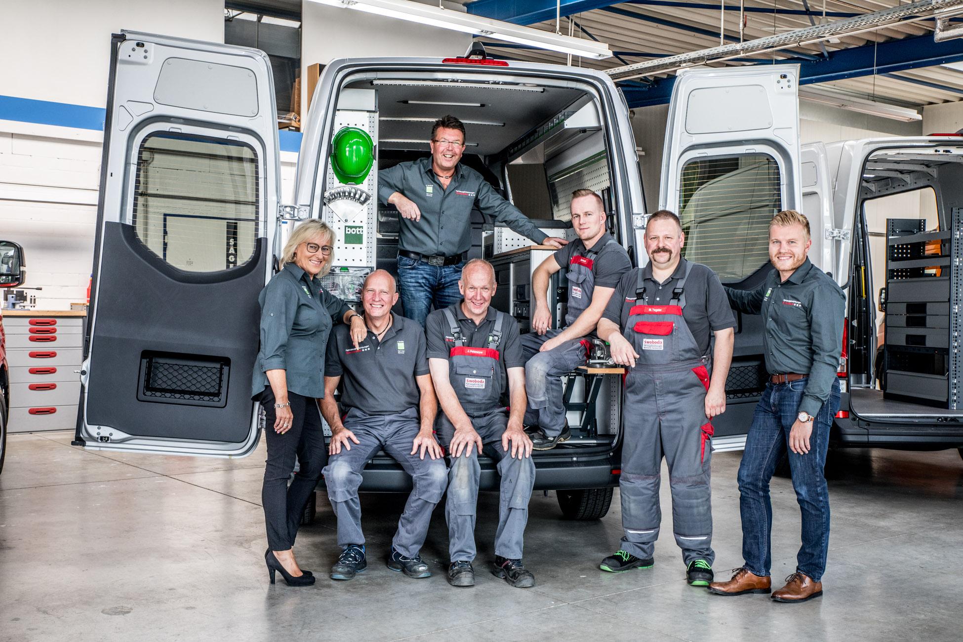 Das Team von Fahrzeugeinrichtungen Swoboda in Bad Salzuflen